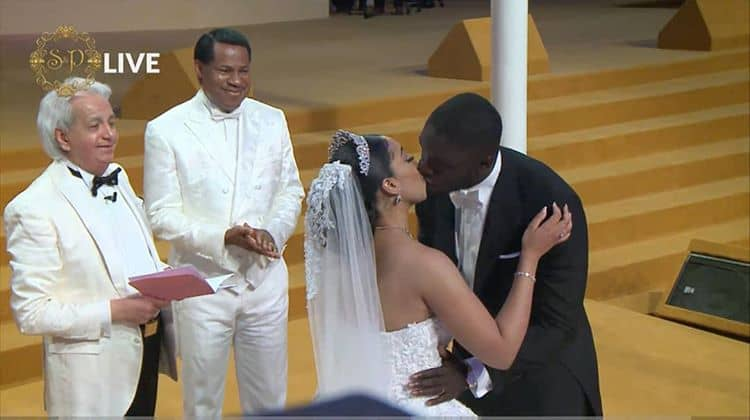 Pastor Chris Oyakhilome's Estranged Wife Absent From Daughter's Wedding? (Photos)