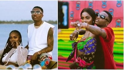 Tiwa Savage shares loved up photos with Wizkid amidst dating speculations