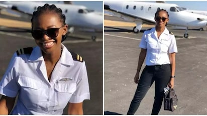 Ambitious lady who lost dad at young age becomes a pilot