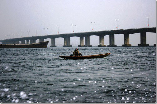 Lagos lagoon third mainland bridge lagos Longest Bridge In Lagos